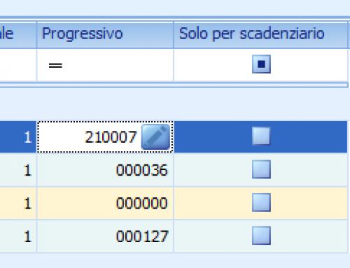 Come modificare il progressivo di una serie di numerazione relativa ad uno o più registri Iva
